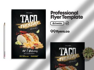 Food Party Flyer Free PSD Template