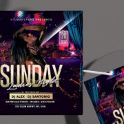 Sunday Girls Night Free PSD Flyer Template