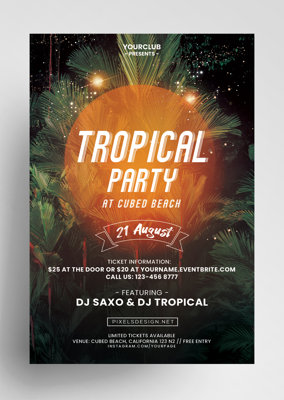 Party DJ Free PSD Flyer Template
