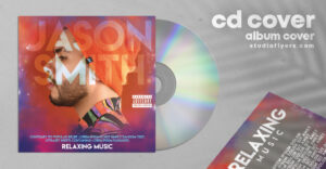 Music Album CD Cover Free PSD Template