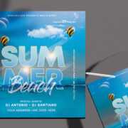 Summer Beach Time Flyer Free PSD Template