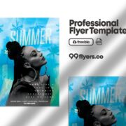 Summer Day Event - Flyer Free PSD Template