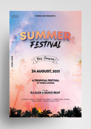 Tropical Festival Free PSD Flyer Template