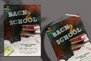 Freebie Back 2 School Flyer PSD Template