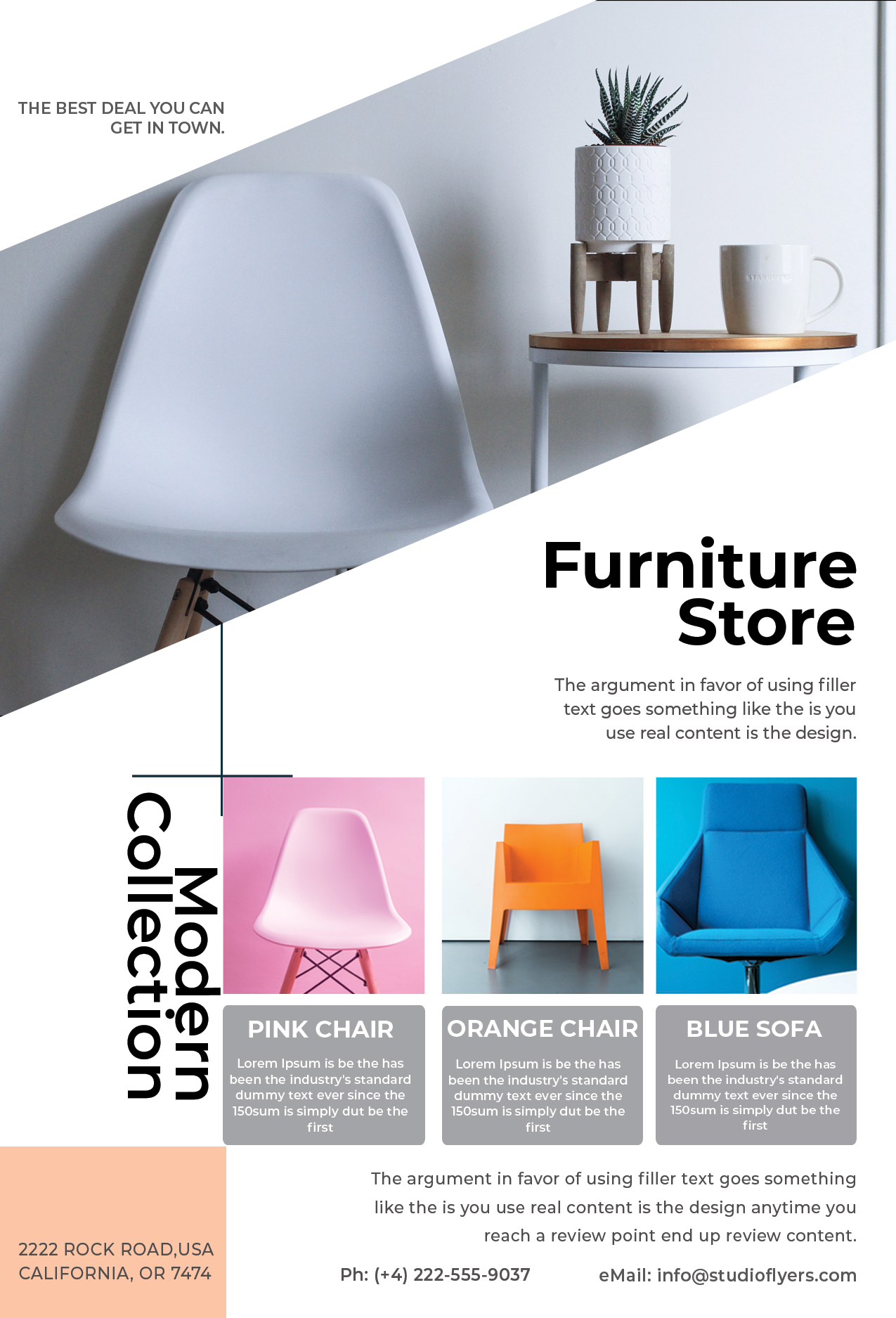 Promotion Furniture Sale Free PSD Flyer Template