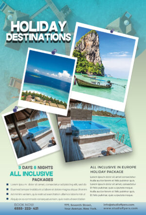 Travel Vacation Flyer Free PSD Template