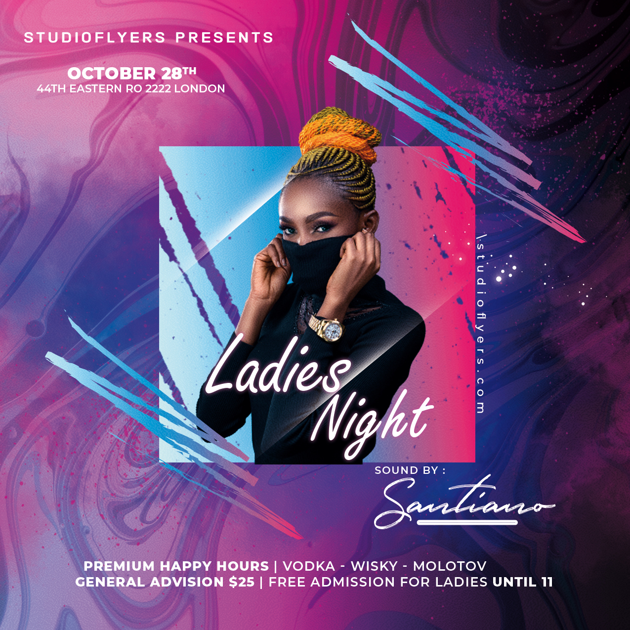 Party Event Flyer Free PSD Template