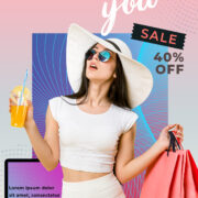 Promotion Sale Flyer Free PSD Template