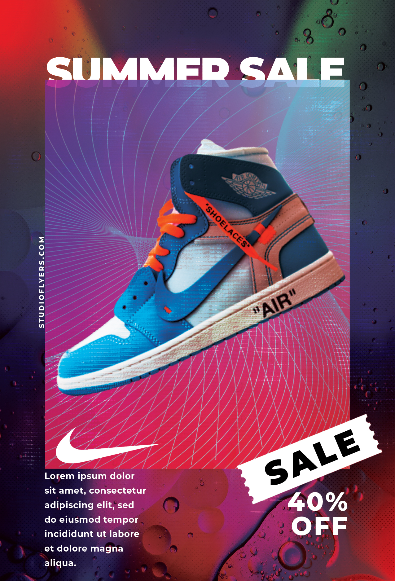 Shoes Sale Flyer Free PSD Template