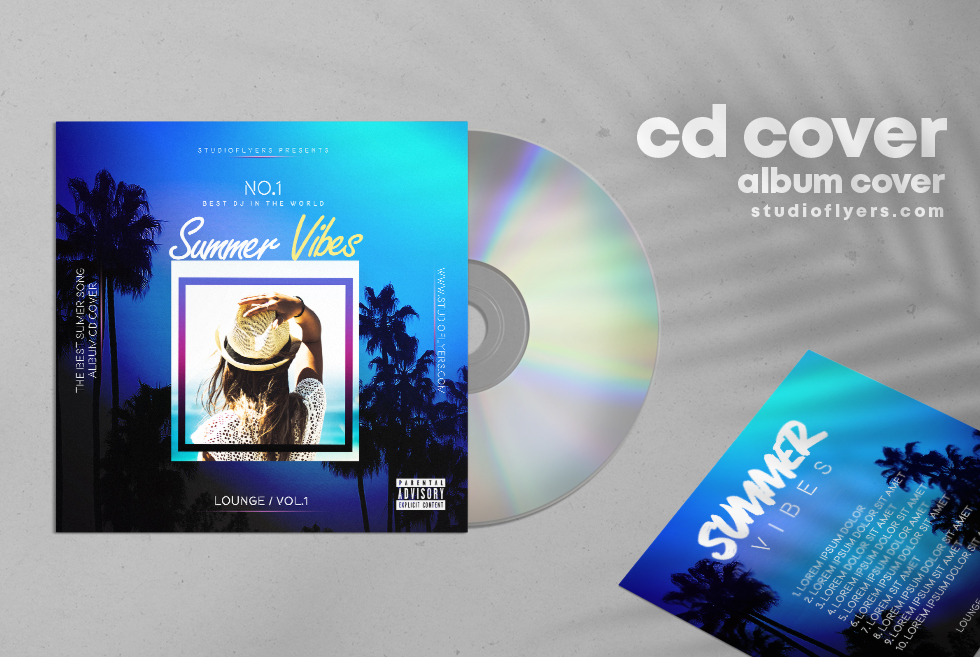 Summer Lounge CD Cover Free PSD Template