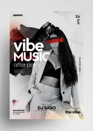Vibe Music Free PSD Flyer Template
