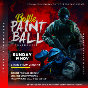 Battle Gaming Tournament Flyer Free PSD Template