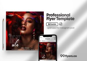Beat Vibe Flyer Free PSD Template