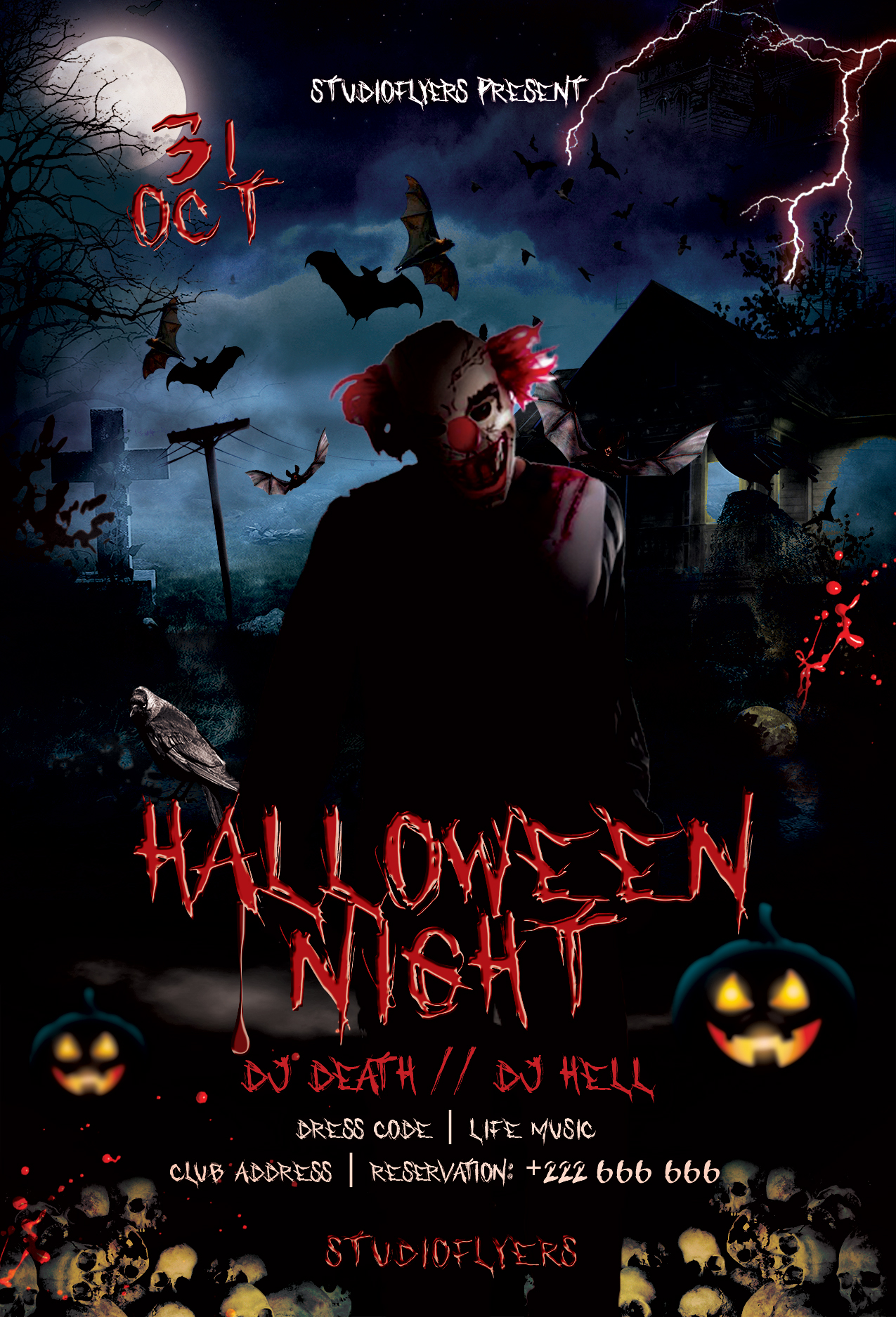 Halloween Event Flyer Free PSD Template