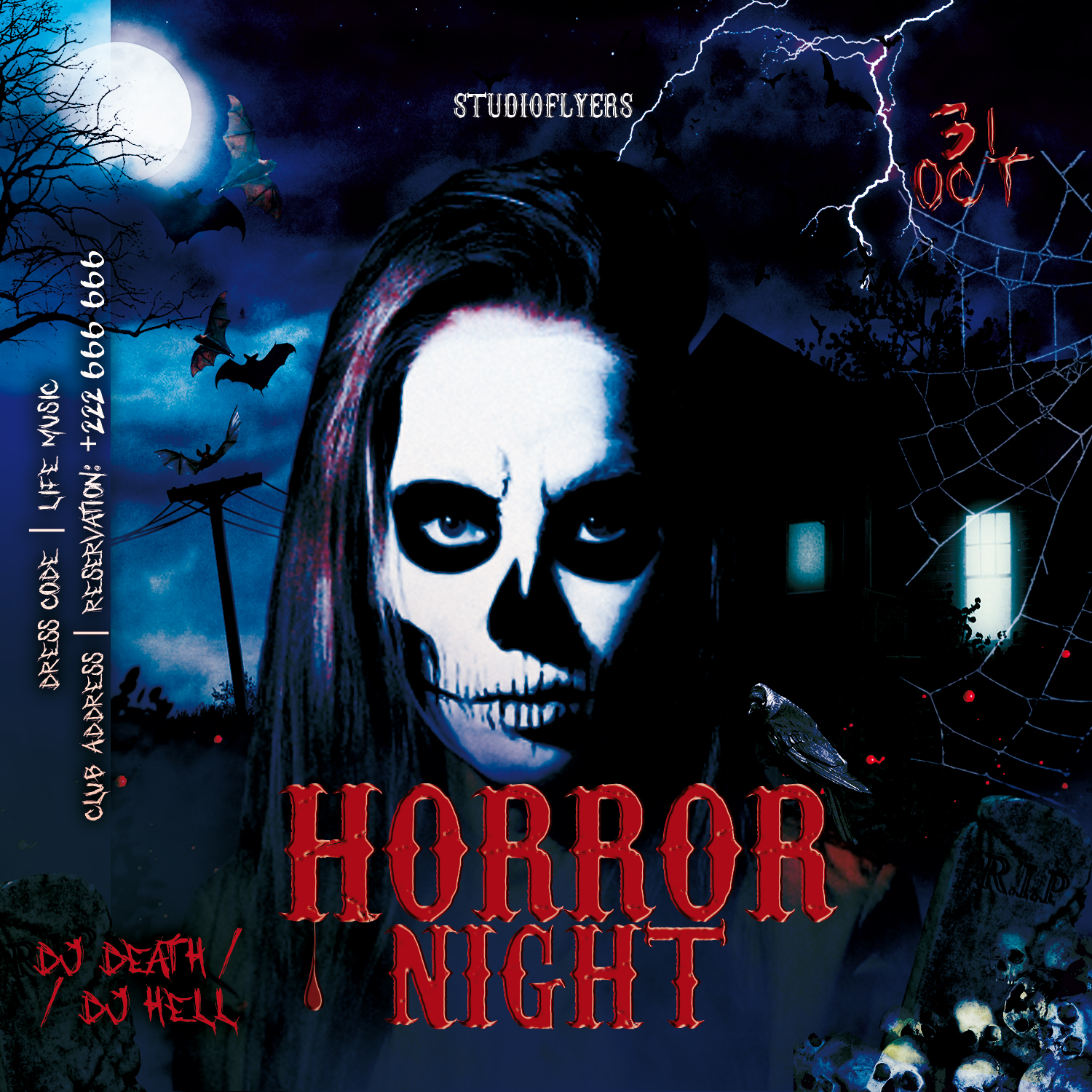 Nightmare Horror Flyer Free PSD Template