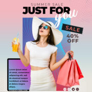 Social Media Sale Promotion Flyer PSD Template