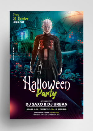 The Scary Halloween Party Free Flyer Template
