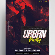 Urban Event DJ Free PSD Flyer Template