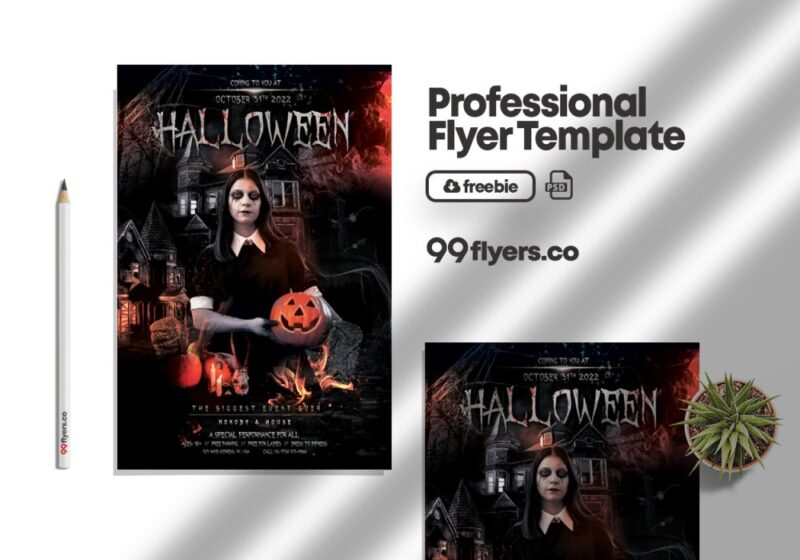 Vampire Event Free Flyer PSD Template