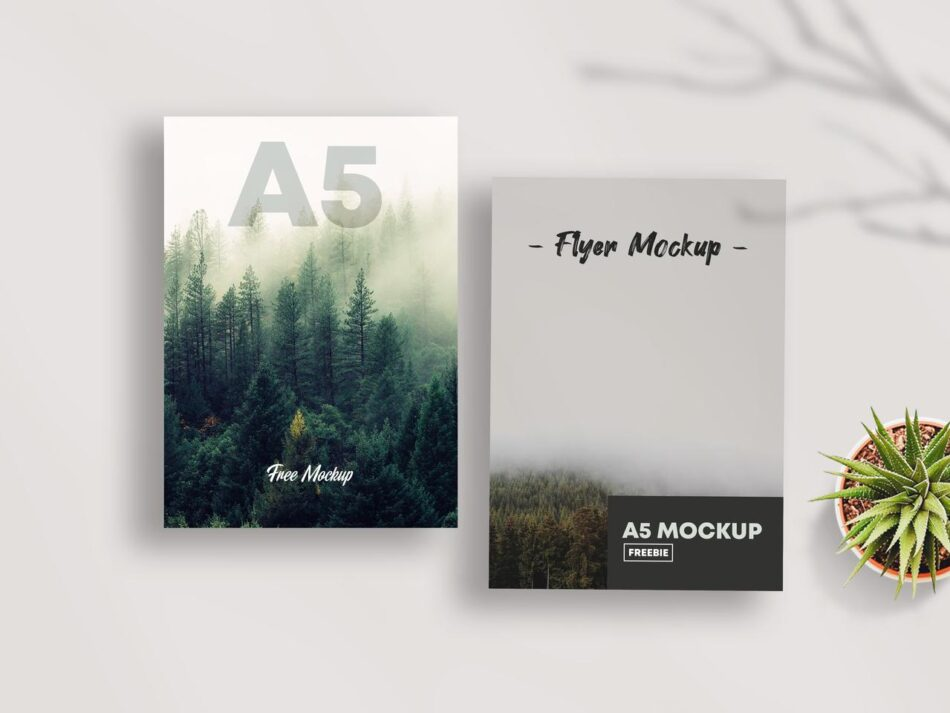 A5 Flyer Freebie PSD Mockup