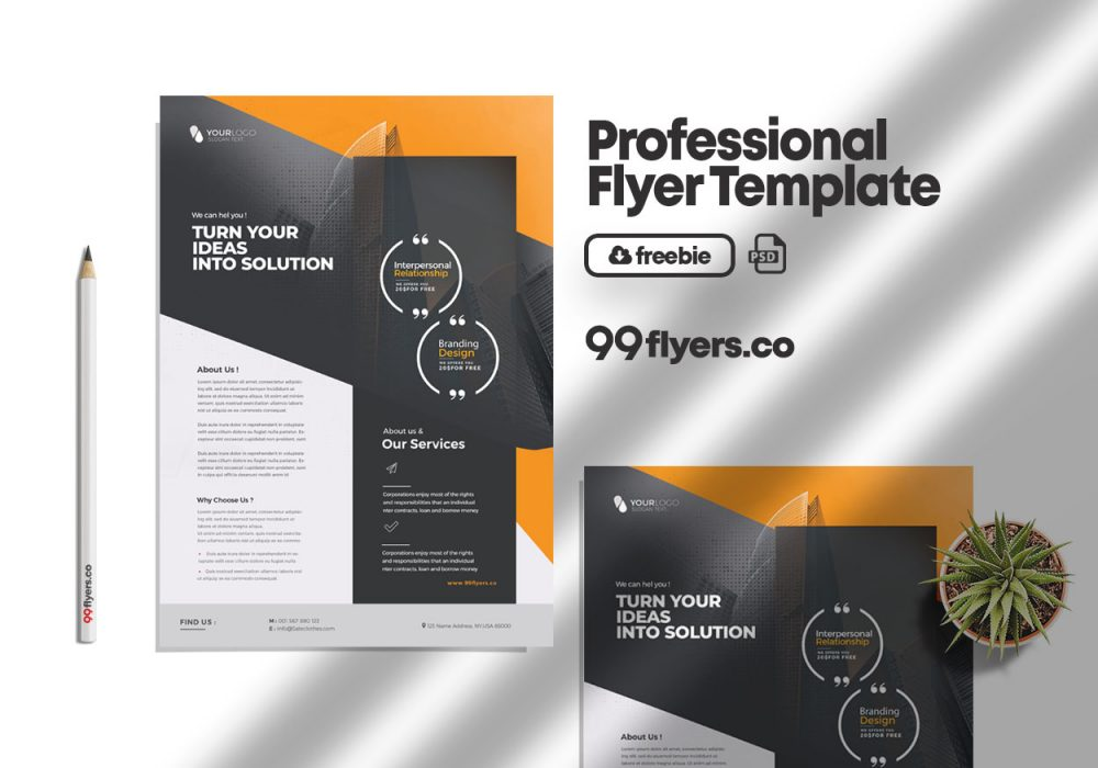 Ad Services Free PSD Flyer Template