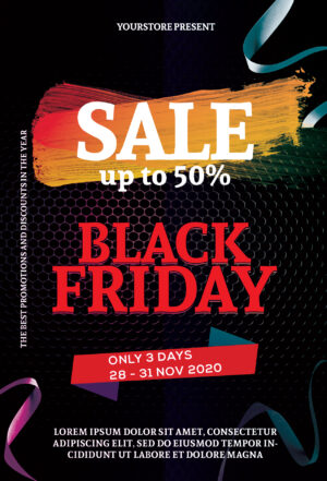 Black Fridays Flyer Free PSD Template