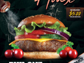 Burger Time Flyer Free PSD Template