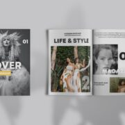 Cover Magazine Showcase Free PSD Mockup