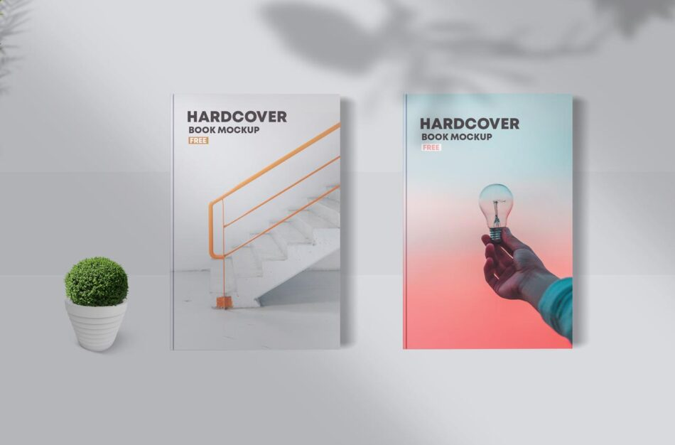 Hardcover Book Free PSD Mockup