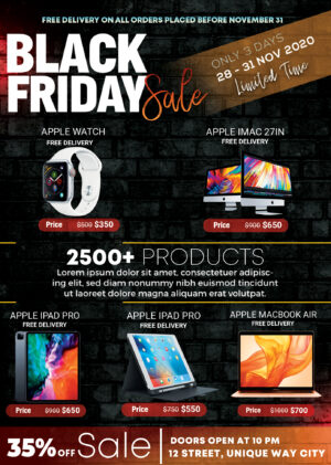 Sale Black Friday Free PSD Flyer Template