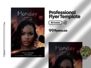 Monday Party Flyer Free PSD Template