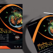 Restaurant Menu Dinner Free PSD Template