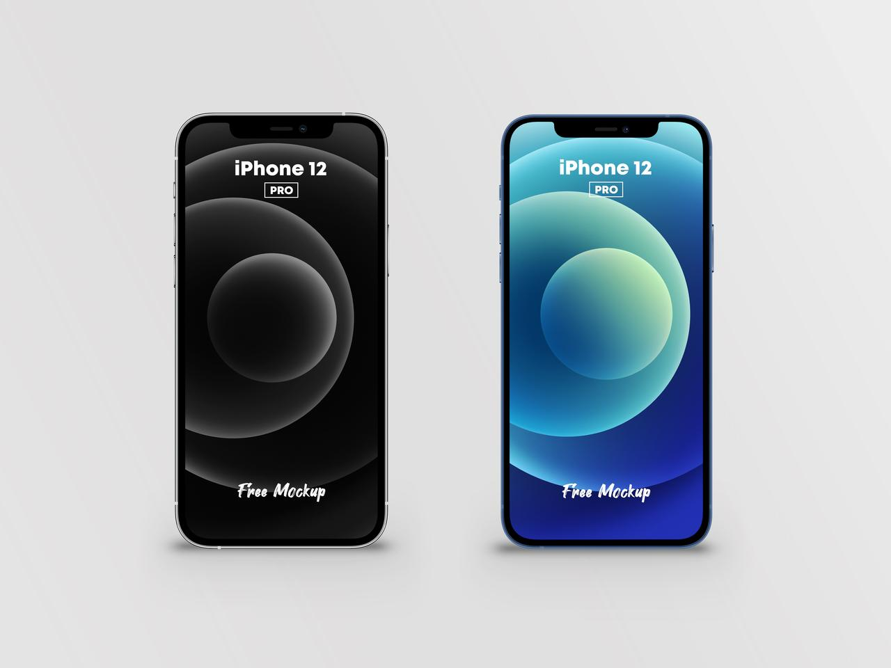 iPhone 12 Pro (2 Colors) Free PSD Mockup