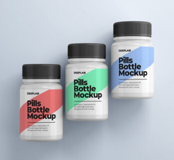 Medical Pill Bottle Mockup Free PSD