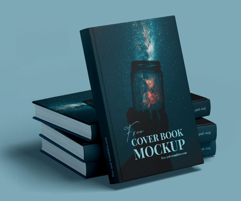 Book Cover Free Mockup PSD Template