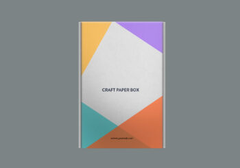 Carft Paper Box Mockup Free PSD Template