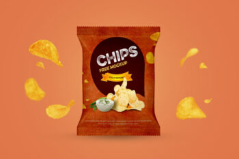 Chips Packet Mockup Free PSD
