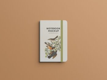 Free Clean Notebook Mockup PSD Template