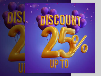 Free Discount Design 3d Render