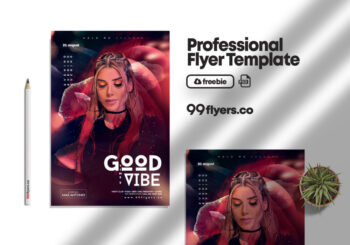 Good Vibes Night Event Flyer Free PSD Template