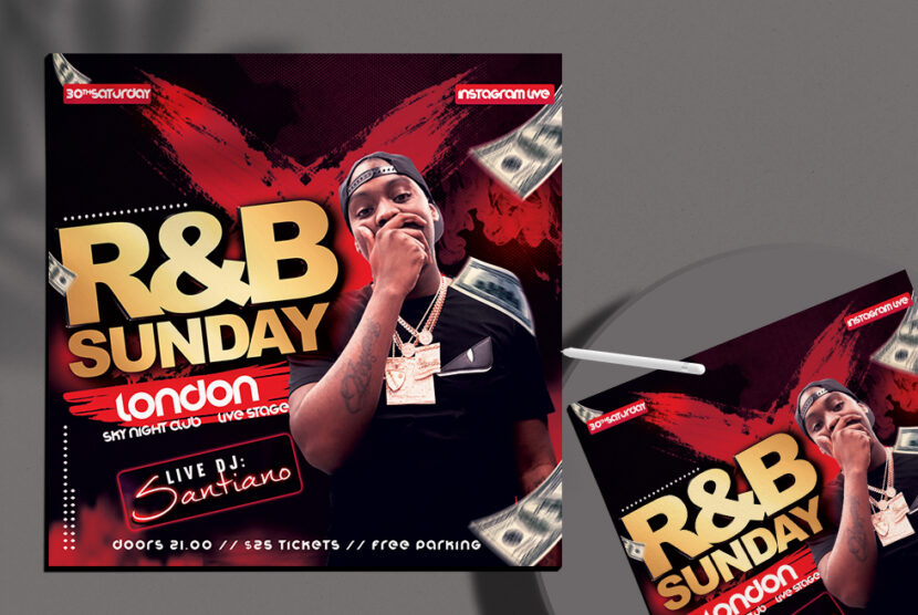 HipHop Event Night Flyer Free PSD Template