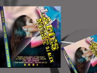 House Mix Flyer Free PSD Template