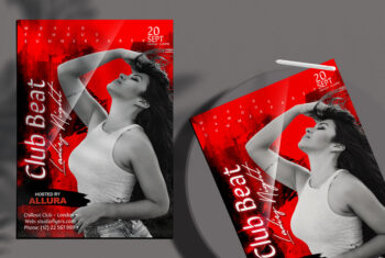Ladies Club Night Party Flyer Free PSD Template