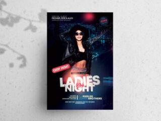 Ladies Party Vibe Flyer Free PSD Template
