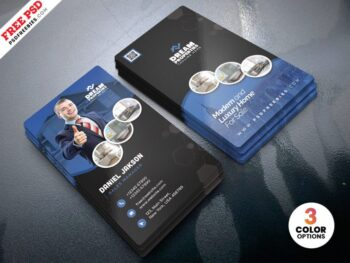 Real Estate Business Card Proerty Dealer PSD
