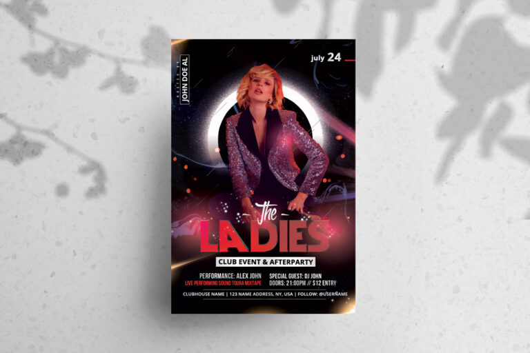 The Event Ladies Night Flyer Free PSD Template