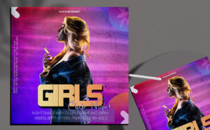 Ladies Night Party Free Instagram Banner PSD