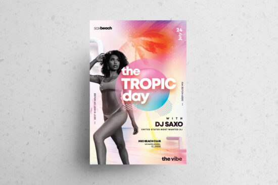 Summer Day Event Flyer Free PSD Template