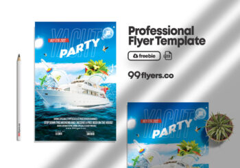 Yacht Event Flyer PSD Free Template